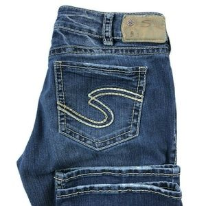 Silver Suki Mid Slim Bootcut Dark Wash Jeans
